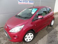 2009 FORD KA 1.2 STYLE 3d 69 BHP 73000 MILES PURPLE CHEAP TAX LOW INSURANCE GROUP £3495.00