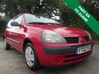 2002 RENAULT CLIO 1.1 AUTHENTIQUE 8V 3d 58 BHP £675.00