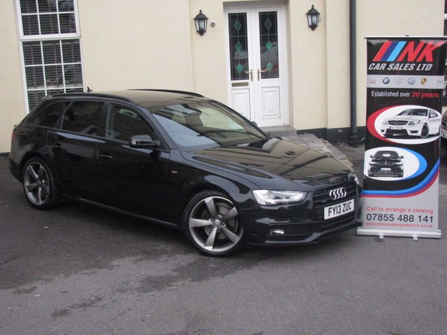 2013 13 AUDI A4 2.0 AVANT TDI QUATTRO S LINE BLACK EDITION S/S 5d AUTO 174 BHP RARE 4WD AUTO WITH FULL NAPPA LEATHERS AND SAT NAV FULL AUDI HISTORY SOLD TO MARC CUTE FROM GLASGOW