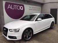 2014 AUDI A4 2.0 AVANT TDI S LINE BLACK EDITION 5d 148 BHP £19995.00