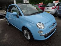 USED 2013 63 FIAT 500 1.2 LOUNGE DUALOGIC (SEMI AUTOMATIC) 3d AUTO 69 BHP Automatic, Low Mileage, Fiat Service History + Serviced by ourselves, Minimum 10 months MOT, One Previous Owner, Great on fuel! Only £20 Road Tax!
