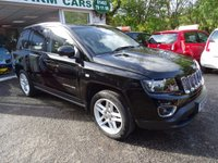 USED 2014 14 JEEP COMPASS 2.4 LIMITED 5d AUTOMATIC 168 BHP FOUR WHEEL DRIVE Full Service History (Jeep + ourselves), MOT until October 2018, Automatic, Four Wheel Drive