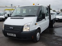 2013 FORD TRANSIT 2.2 350 DRW 1d 124 BHP DOUBLE CAB TIPPER ONLY 31000 MILES £13995.00