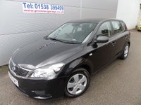 2009 KIA CEED 1.4 1 5OOR BLACK, ONLY 49000 MILES WITH A/C AUX PLUG  £3995.00