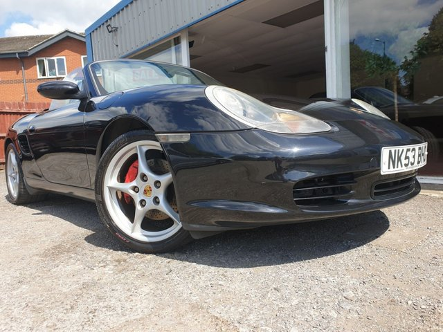 USED 2003 53 PORSCHE BOXSTER 3.2 24V S 2d 260 BHP EXTENSIVE S/HISTORY! GREY LEATHER