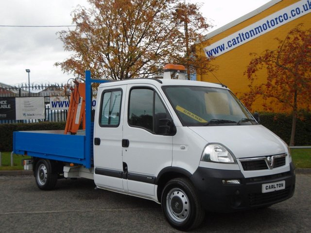 2010 10 VAUXHALL MOVANO 3500 Lwb D/Cab Dropside Hydraulic Remote Crane+ Low Mileage 9,478 Free UK Delivery,