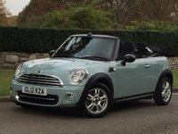 2012 MINI CONVERTIBLE 1.6 COOPER 2d 122 BHP £8995.00