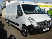 2015 RENAULT MASTER 2.3 MML35 BUSINESS DCI S/R P/V 1d 125 BHP RWD 3.74m Load Length. 1.85m Load Height. Rare spec £13495.00