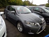 2014 LEXUS CT 1.8 200H ADVANCE AUTO 134 BHP * Facelift & Sat Nav * £12999.00
