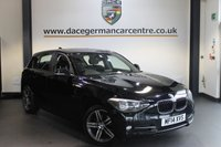 USED 2014 14 BMW 1 SERIES 2.0 118D SPORT 5DR AUTO 141 BHP + BMW SERVICE HISTORY + 1 OWNER FROM NEW + BLUETOOTH + CRUISE CONTROL + 17 INCH ALLOY WHEELS +