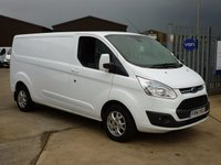 2014 FORD TRANSIT CUSTOM 2.2TDCi T290 LIMITED Low Roof 125 BHP - AIR CON - ALLOYS - SENSORS £13995.00