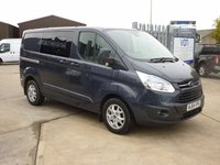 2014 FORD TRANSIT CUSTOM 2.2TDCi T290 LIMITED SWB Low Roof CREW CAB  125 BHP - AIR CON - ALLOYS - CRUISE CONTROL - BLUE - £14995.00