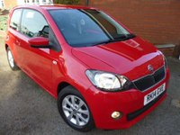 USED 2014 14 SKODA CITIGO 1.0 ELEGANCE GREENTECH 3d 59 BHP Sat Nav & Bluetooth Included + Service History, Heated Seats