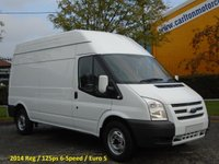 2014 FORD TRANSIT 350L High Roof panel van 2.2Tdci Rwd Ex lease  £9950.00