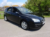 USED 2006 06 FORD FOCUS 1.6 GHIA 5 Dr AUTOMATIC, 3 OWNERS, BLACK, 47400 MILES