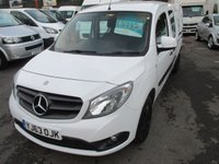 2013 MERCEDES-BENZ CITAN 1.5 109 CDI DUALINER MAXI LONG WHEEL BASE 5 SEATER NEW SHAPE MODEL  AIR CON ELECTRIC PACK  73,000 MILES    !! BARGAIN !! £5995.00