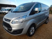 2014 FORD TRANSIT CUSTOM 270 LIMITED 2.2 TDCI LOW ROOF SWB 125 BHP 49933 MILES £12995.00