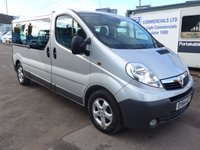 USED 2014 64 VAUXHALL VIVARO COMBI CDTI 9 SEATER MINIBUS, AIR CONDITIONING, REAR CLIMATE CONTROL, BLUETOOTH, REAR PARKING ASSIST, FOG LIGHTS, MANUFACTURERS WARRANTY UNTIL SEPTEMBER 2017
