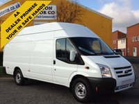 USED 2013 13 FORD TRANSIT 2.2Tdci T350 Lwb Jumbo High roof van Ex lease Fsh Free UK Delivery