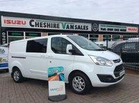 2014 FORD TRANSIT CUSTOM 2.2 290 LIMITED L2 CREW CAB  125 BHP CHOICE £14995.00