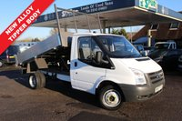 USED 2008 57 FORD TRANSIT 2.4 350 MWB 1d 100 BHP New Alloy Tipper Body, Direct BT, One Owner.