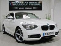 2013 BMW 1 SERIES 2.0 116D SPORT 3dr IN ALPINE WHITE 114 BHP £8980.00