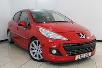 USED 2012 12 PEUGEOT 207 1.6 HDI ALLURE 5DR 92 BHP SERVICE HISTORY + AIR CONDITIONING + PARKING SENSORS + RADIO/CD + ALLOY WHEELS