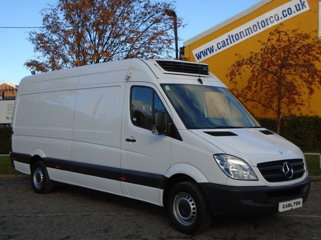 2013 63 MERCEDES-BENZ SPRINTER 313Cdi Lwb High Roof [ Fridge-Freezer-Chiller+Standby ] Ex lease Service printout,Free UK Delivery, Stunning Throughout