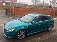 USED 2014 14 AUDI A3 2.0 TDI S LINE 5d AUTO 148 BHP 1 OWNER, Fully Loaded, Individual Paint, Sat Nav, Auto