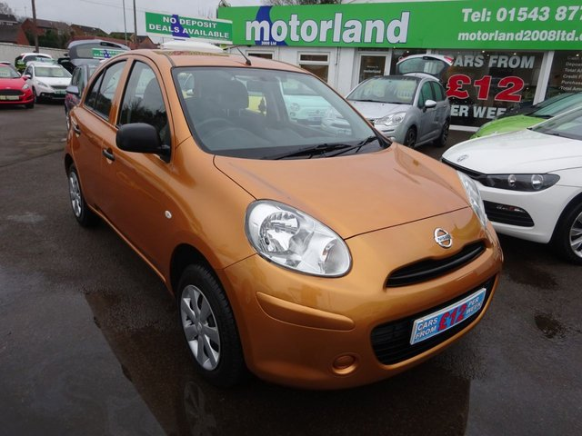 USED 2011 11 NISSAN MICRA 1.2 VISIA 5d 79 BHP £0 DEPOSIT FINANCE DEAL AVAILABLE...CALL TODAY FOR MORE DETAILS 01543 877320