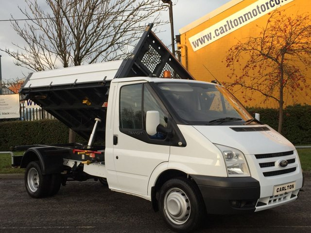 2010 60 FORD TRANSIT 115 T350m [ 3Way ] Tipper 10.5ft Alloy Body Ex PLC Fsh, Free UK Delivery DRW