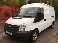 2012 FORD TRANSIT  2012 2.2 350 LWB 140 BHP FULL SERVICE HISTORY WARRANTED MILEAGE 6 SPEED  £4995.00
