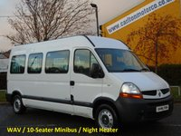 2007 RENAULT MASTER 2.5Dci LM35 Minibus 10seat WAV Wheelchair Disabled Ex Council Authority Free UK Delivery £7950.00