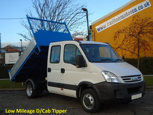 2009 09 IVECO-FORD DAILY 3.0Hpi 35c15 D/Cab 7s Tipper 54K Ex Council Authority Free UK Delivery