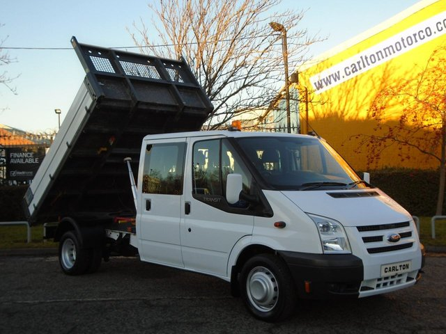 2009 09 FORD TRANSIT 140 T350L D/Cab Tipper Alloy Body Ex Council Low mileage Free UK Delivery DRW