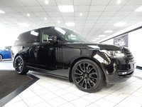 USED 2016 16 LAND ROVER RANGE ROVER 4.4 SDV8 AUTOBIOGRAPHY 5d AUTO 339 BHP VAT Q DEPLOYABLE STEPS 1700W MERIDIAN BLK PK 22'S