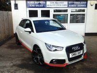 USED 2012 61 AUDI A1 TFSI COMPETITION LINE .   60K FSH.  TWO LOCAL OWNERS.  18' ALLOYS.  6 SPEED.  SAT NAVIGATION  BLUETOOTH.  VOICE CONTROL.  FINANCE AVAILABLE.