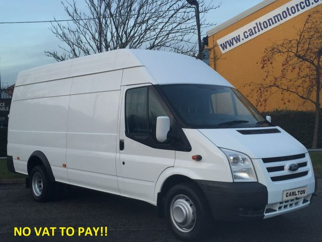 2012 62 FORD TRANSIT 115 T350EL High Roof Jumbo [ NO VAT TO PAY ] Low Mileage DRW Free UK Delivery
