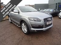USED 2007 07 AUDI Q7 3.0 TDI QUATTRO SE 5d AUTO 234 BHP DRIVE THIS CAR HOME TODAY AA COVER , SATELITTE NAVIGATION , SIDE STEPS, LEATHER SPORTS TRIM 2 KEYS,3 MAIN DEALER SERVICE STAMPS