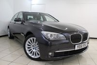 USED 2011 61 BMW 7 SERIES 3.0 730D SE 4DR AUTOMATIC 242 BHP FULL BMW SERVICE HISTORY + SAT NAVIGATION + BLUETOOTH + PARKING SENSORS + ALLOY WHEELS