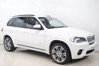 USED 2013 13 BMW X5 3.0 XDRIVE40D M SPORT 5d AUTO 302 BHP SAT NAV+PAN ROOF+FULL TAN LEATHERS+HEATED SEATS+PADDLE SHIFTS+PRIVACY GLASS