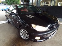 USED 2003 03 PEUGEOT 206 1.6 BLACK/SILVER S COUPE CABRIOLET 2d 110 BHP