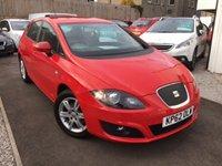 2012 SEAT LEON 1.6 CR TDI ECOMOTIVE SE COPA 5d 103 BHP £7995.00