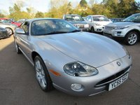 USED 2005 S JAGUAR 240 JAGUAR XK8 SILVER  ONLY 81,000 MILES+FULL SERVICE HISTORY+AUTO+SAT-NAV+BLACK LEATHER SEATS+STEERING WHEEL CONTROLS+RADIO/CD WITH HANDS FREE